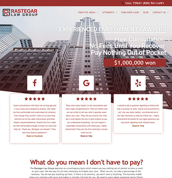 Attorney Website Design Miami