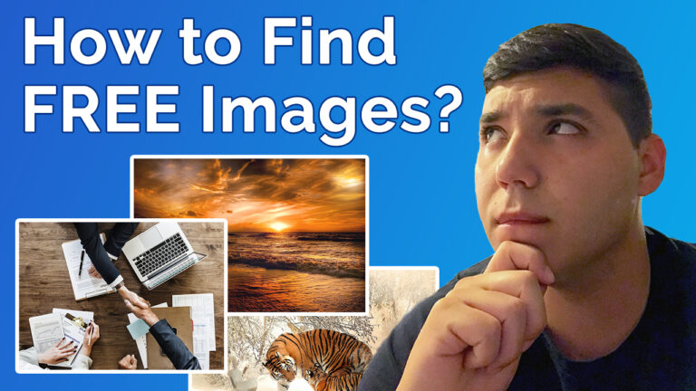 how to find free images for your website